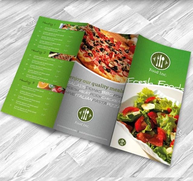 Restaurant Brochure Design Examples for Inspiration - Creatives Wall