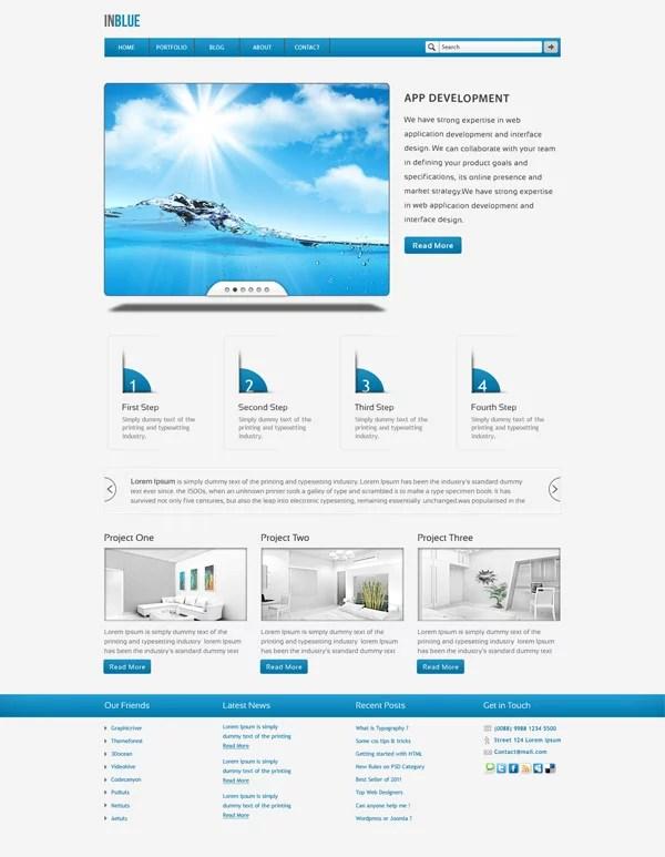30 Free PSD Website Templates - Creatives Wall