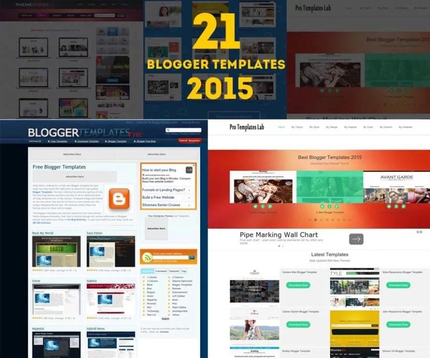 21 Free Professional Blogger Templates 2015 - Creatives Wall