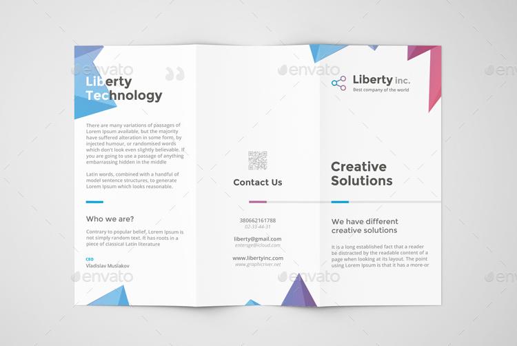 corporate tri fold brochure template - Minimfagency - tri words