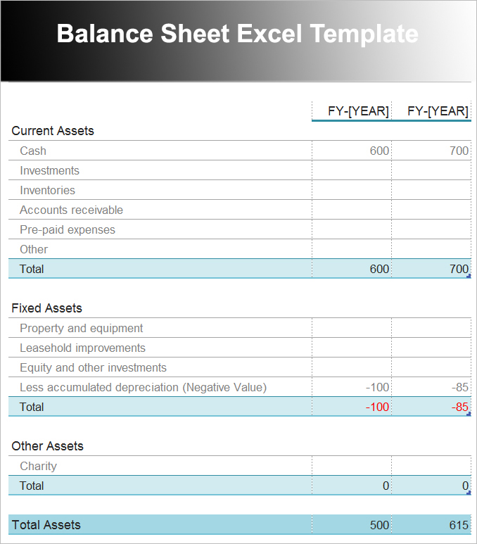 10+ Balance Sheet Template Free Word, Excel, PDF Formats - balance sheet template