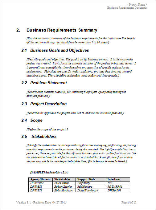 11+ Business Requirements Documents Free \ Premium Creative - business requirements document template