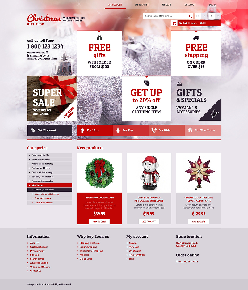 9+ Christmas eCommerce Website Themes Free Website Templates