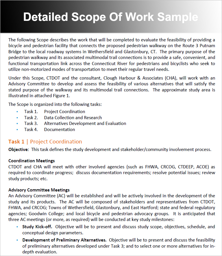 Scope Of Work Templates - Free Word, PDF Document Creative Template - business requirements document template