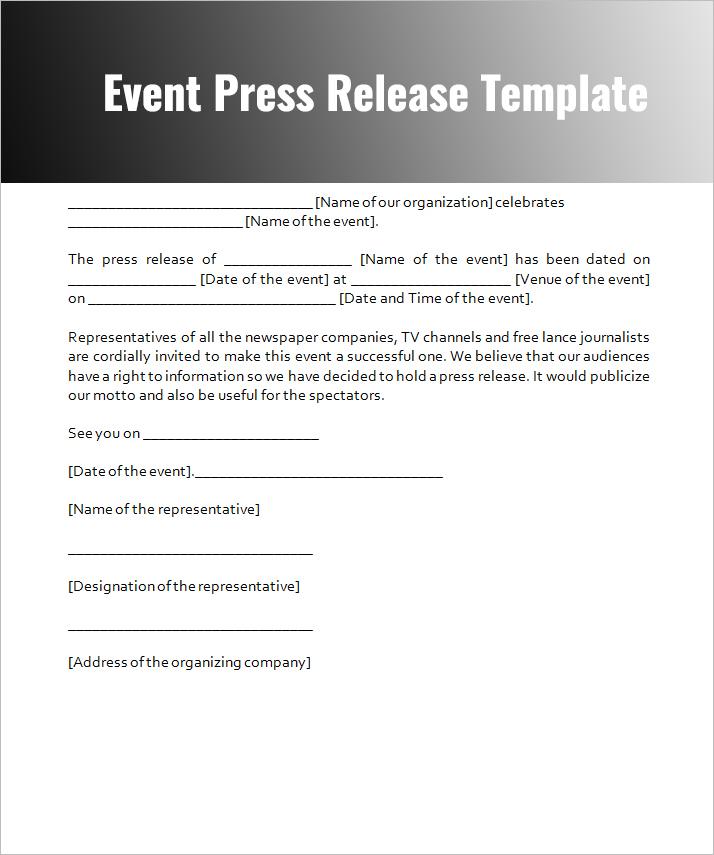 Press Release Template - Free Word \ PDF Downloads Creative Template - press release template