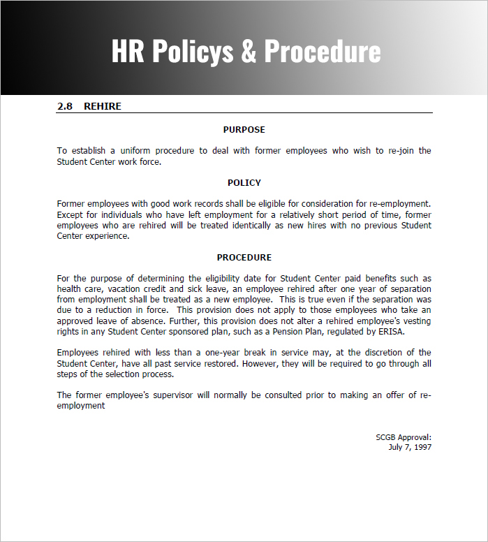 28+ Policy and Procedure Templates Free Word, PDF Download Examples