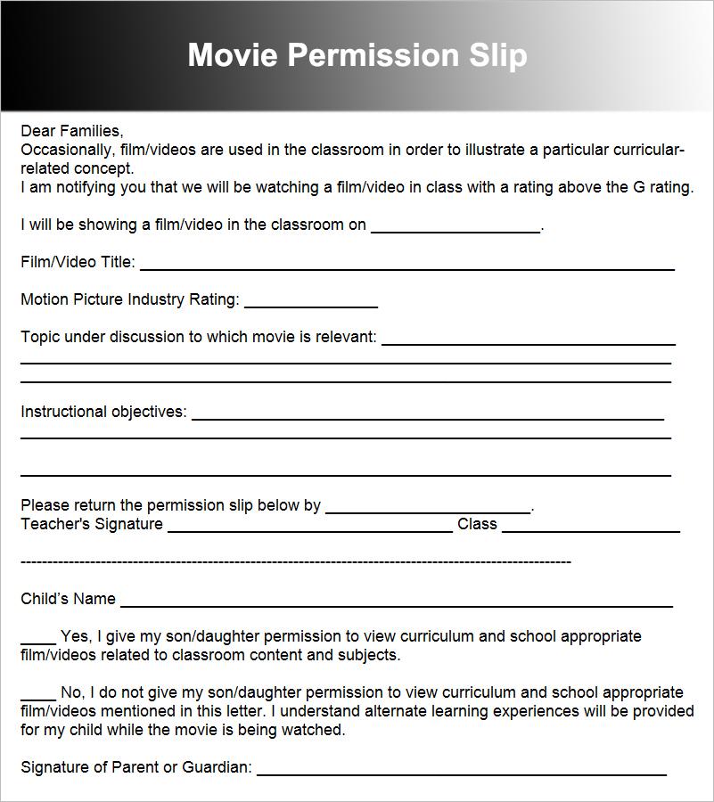 36+ Permission Slip Templates Free PDF, Doc Formats