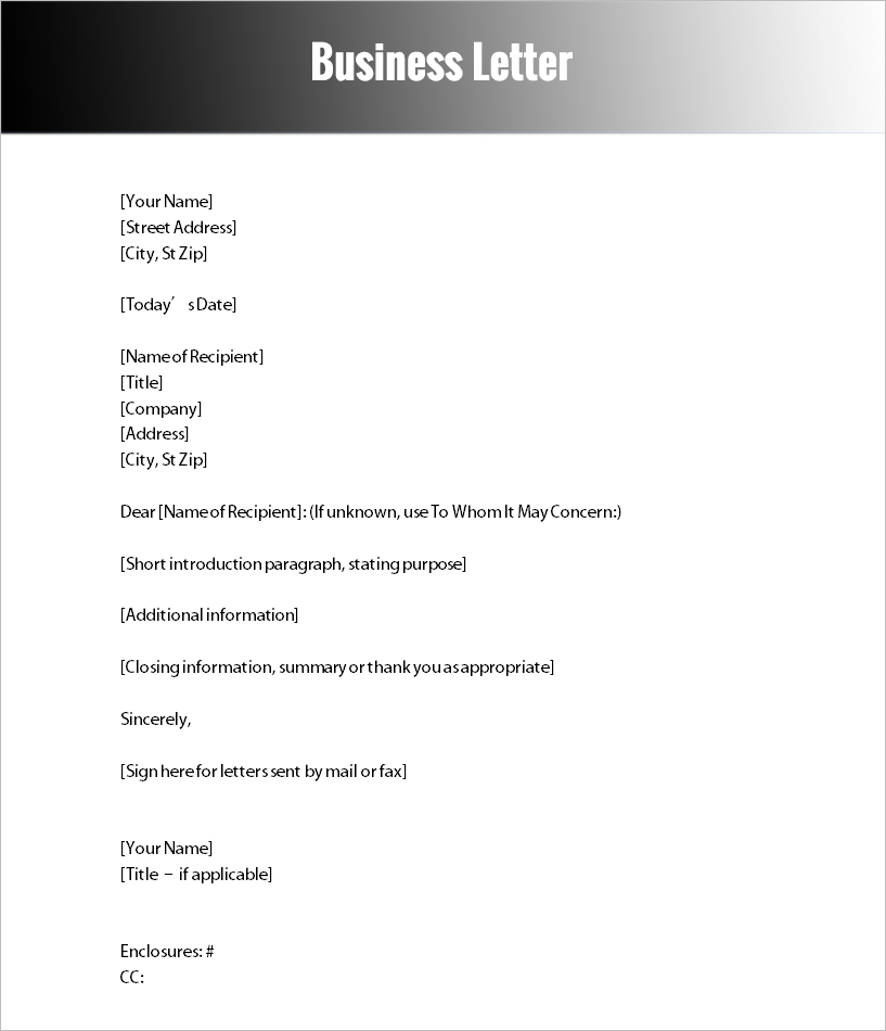 40+ Formal Letter Templates Free Word, PDF Formats - formal letter word template