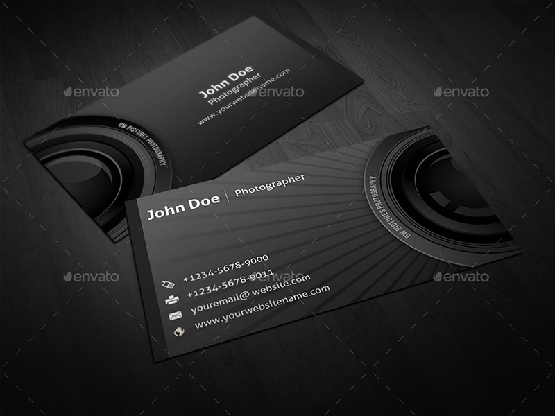 65+ Photography Business Cards Templates Free Designs - card templates for pographers
