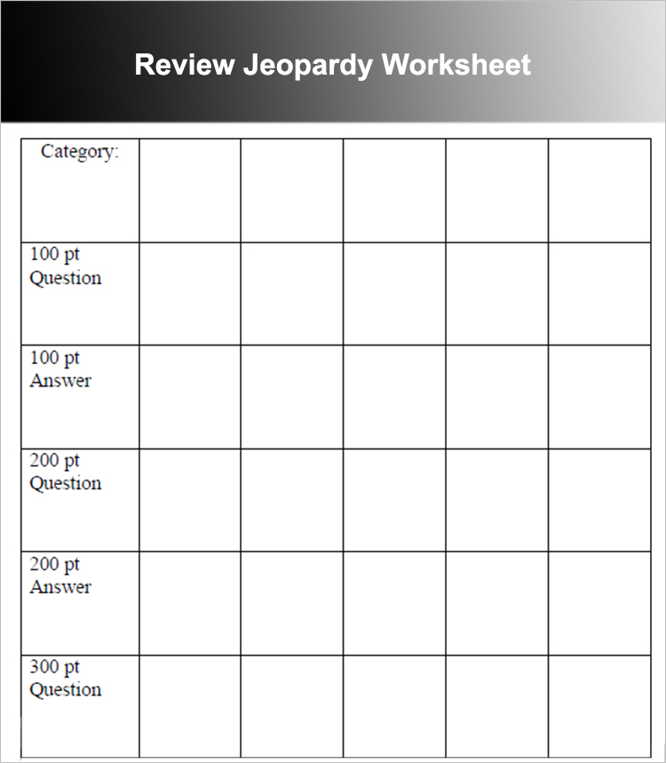 Jeopardy Powerpoint Templates - Free PPT, PPTX Documents - sample jeopardy powerpoint