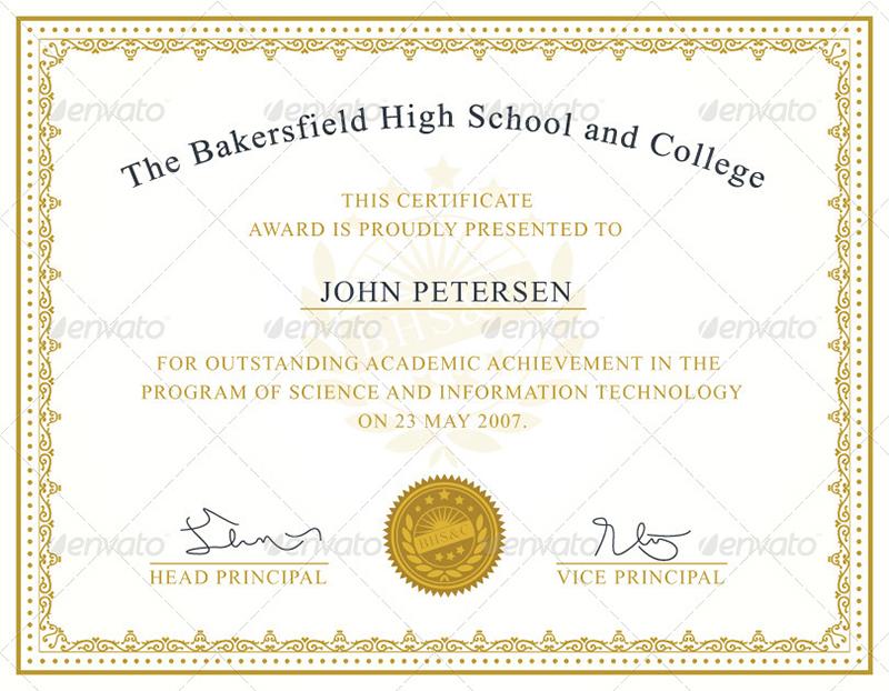 Achievement Certificate Templates Creative Template Creative - award certificates templates