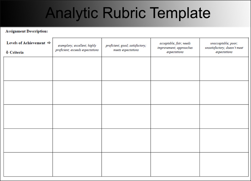 7+ Rubric Templates Free PDF, Word, Excel Formats - rubric templates