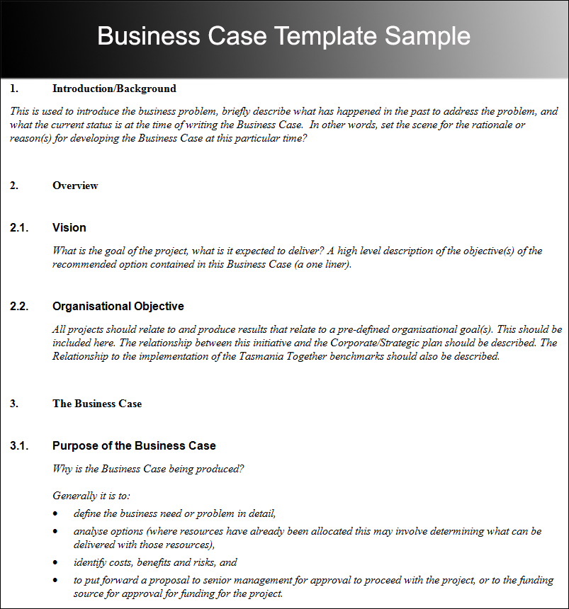 8+ Business Case Template Free Word, PDF, Excel, Doc Formats - it project business case template