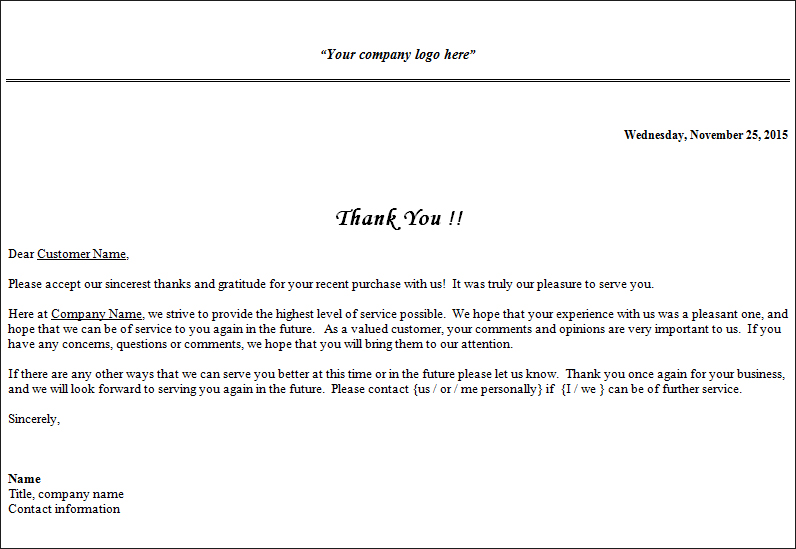 Thank You For Your Business Letter Business Fundraising Letter - sample thank you for your business letter