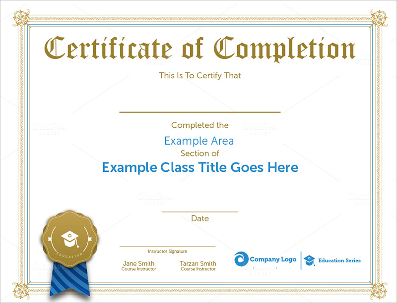 Sample Completion Certificate Templates Download Creative Template - sample certificate templates