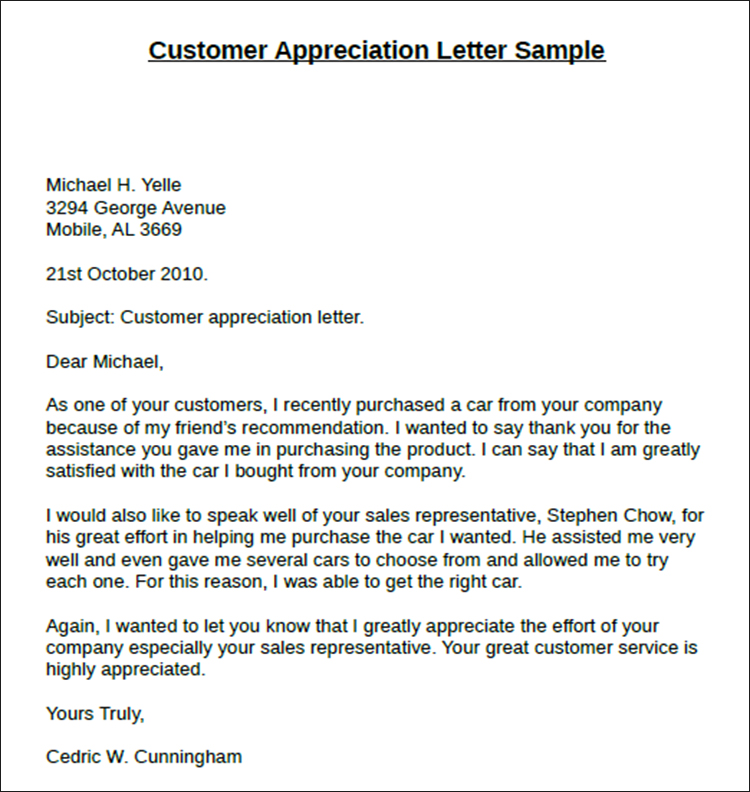 thank you and appreciation letter - Minimfagency