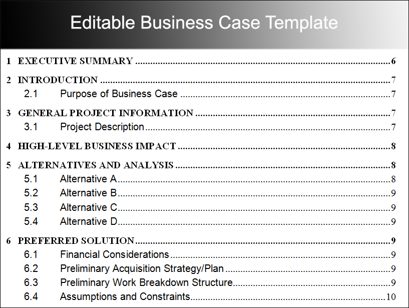 8+ Business Case Template Free Word, PDF, Excel, Doc Formats