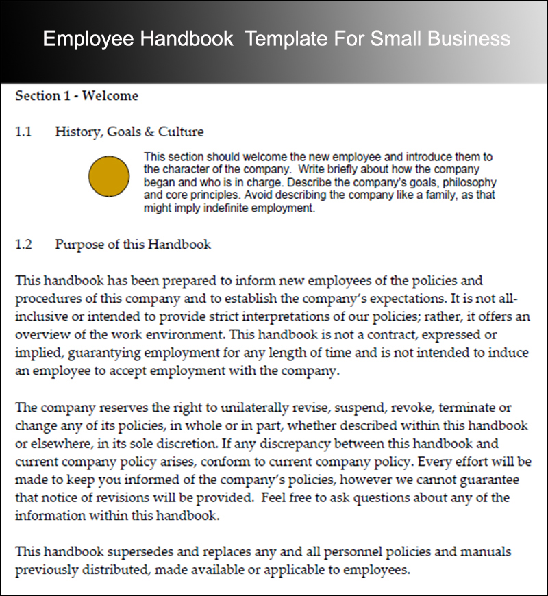 Employee Handbook Templates - Free Word Document Creative Template - sample employee manual template