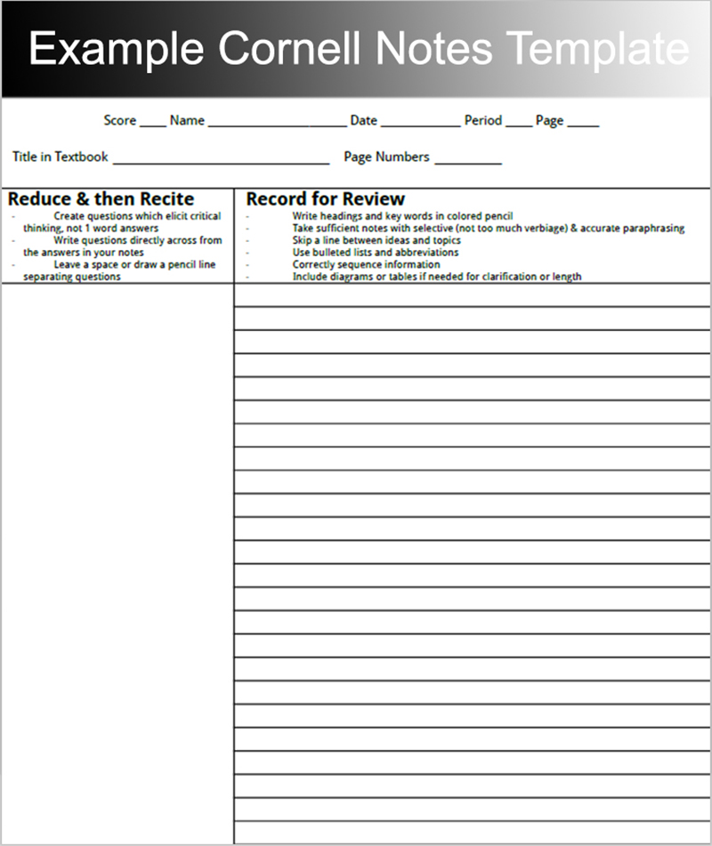 8+ Printable Cornell Notes Templates Free Word, PDF Format - Sample Cornell Note