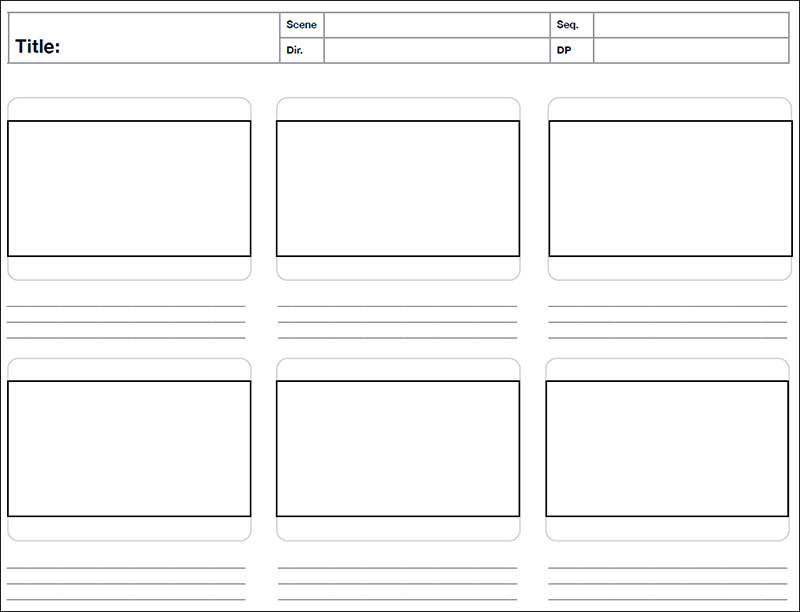 8+ Storyboard Template Free Word, PDF, PSD Formats