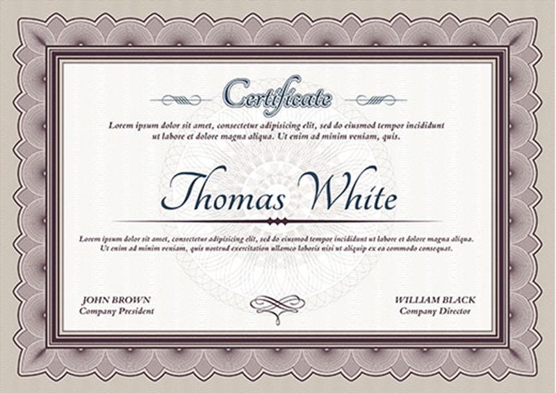 graduation certificate template - Basilosaur