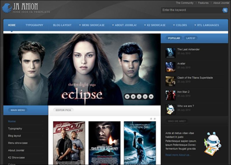 15+ Best Movie Joomla Templates Free Download Creative Template