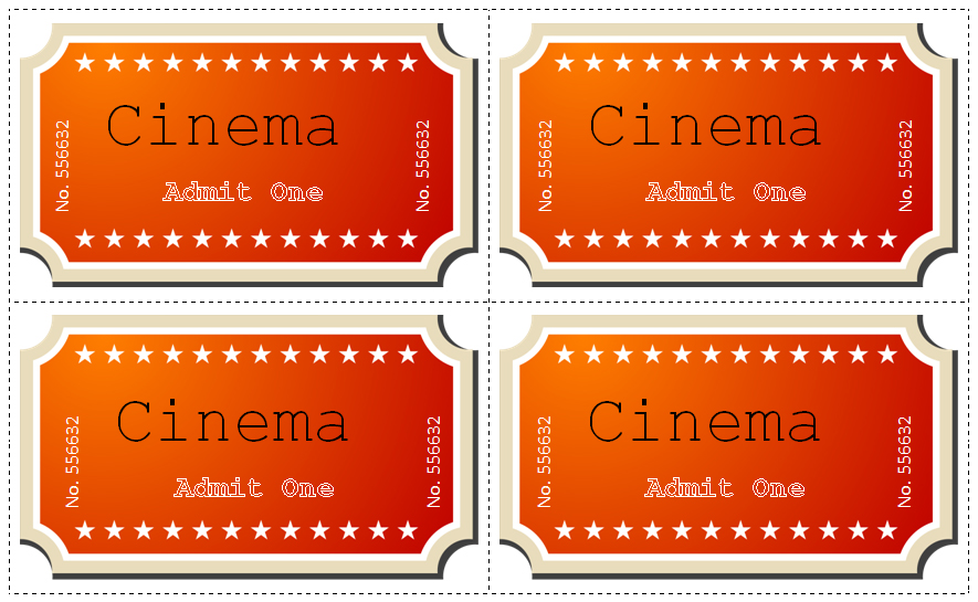 21+ Free Movie Ticket Templates - Creative Template Creative - admit one ticket template