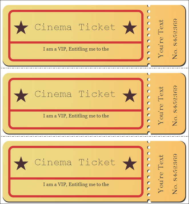 30+ Free Movie Ticket Templates Printable Word Formats