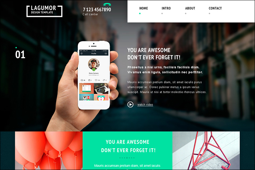 50+ Best Landing Page PSD Templates Free Website Themes - app landing page template