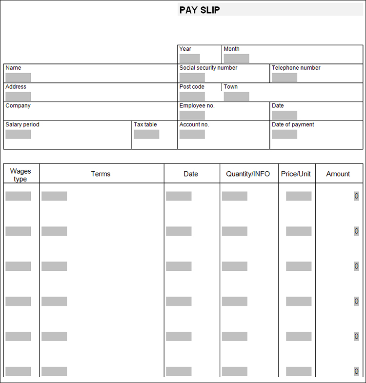 13+ Free Pay Stub Templates PDF, Word, Sample Formats - payslip in word format