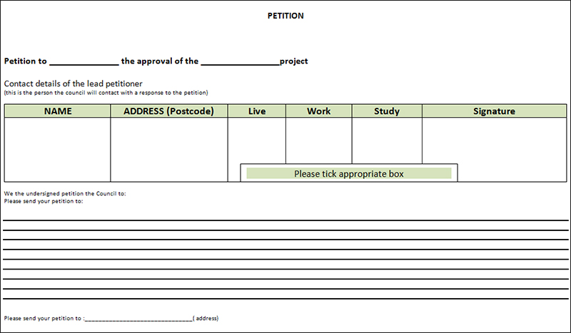 13+ Free Printable Petition Templates Word, PDF Documents