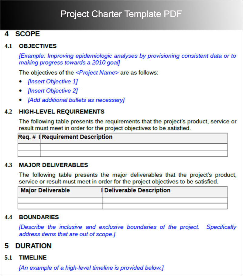 Project Charter Checklist Template   CV RESUMES MAKER GUIDE