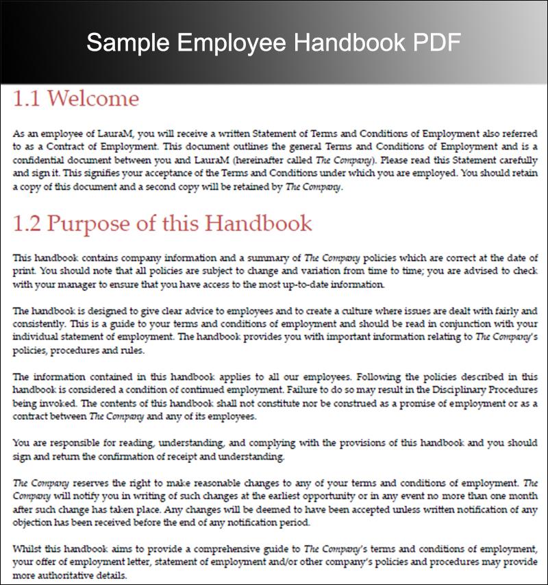 Employee Policy Manual Employee Manual Restaurant Employee - employee manual template