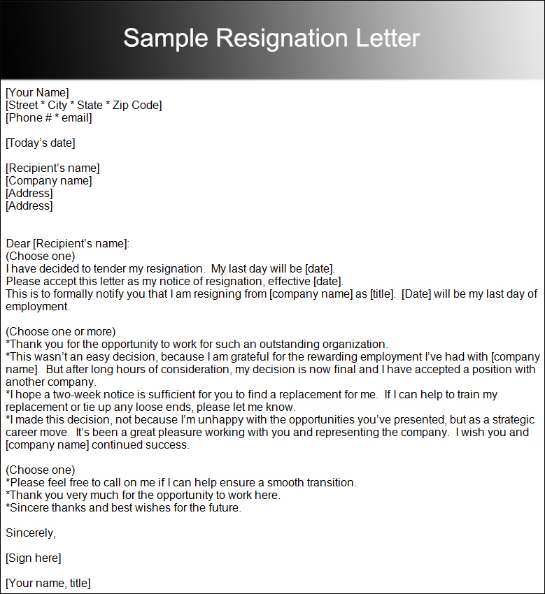 Two Weeks Notice Letter Templates - Free PDF, Word Documents - sample resignation letters