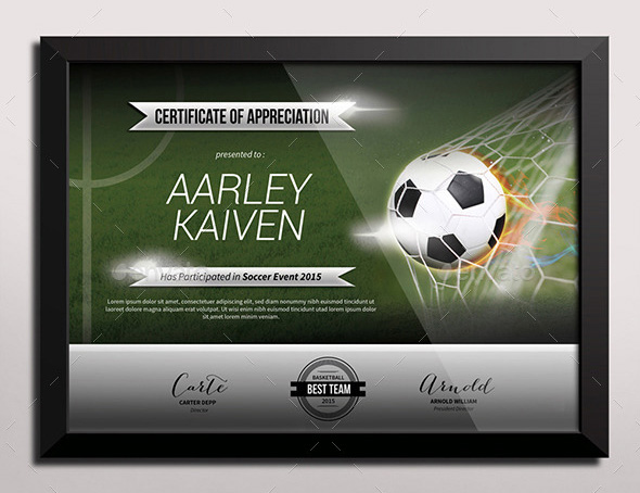 Sports Certificate Templates - Free Word, PDF Documents