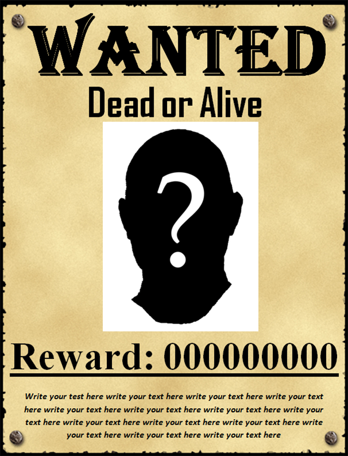 50+ Printable Wanted Poster Templates Free PDF, PSD Designs - free wanted poster template