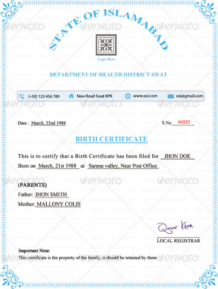 birth certificates templates - Minimfagency - birth certificate template for school project