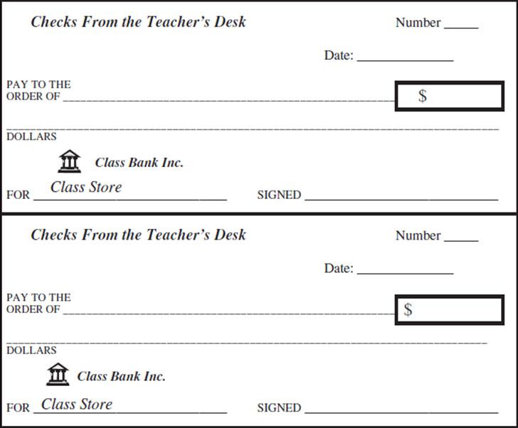 fake blank check template - Selol-ink