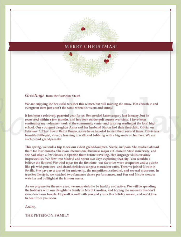 17+ Christmas Letter Templates - Free PSD, PDF, Word Format - christmas letter templates