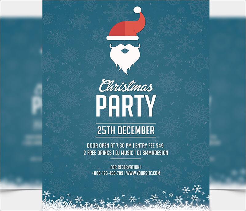 Christmas Party Flyer Templates  PSD Designs Free  Premium - invitation flyer sample