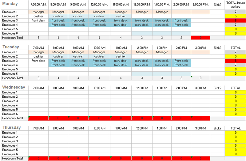 31+ Daily Work Schedule Templates Free PDF, Excel, Word Download