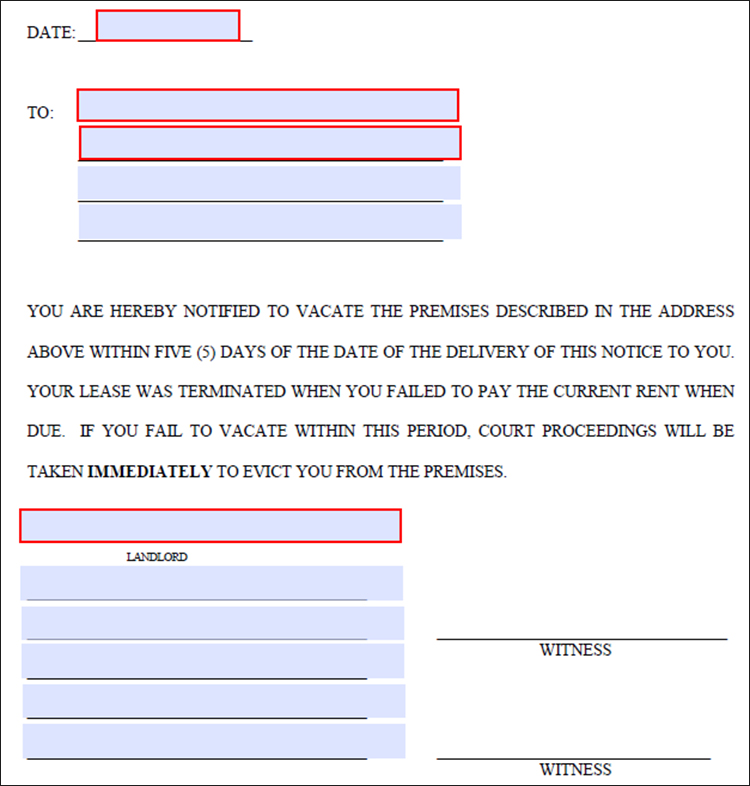 lease termination letter template - Free Word, PDF Documents - sample lease termination letter
