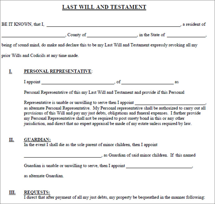 Living Will Form Living Free Template Creative template - last will and testament form