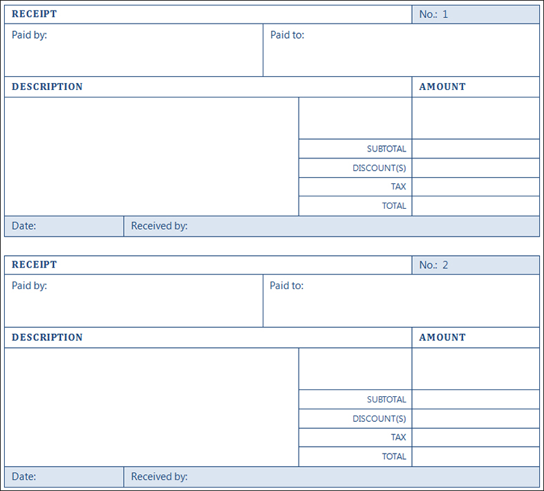 12+ Receipt Templates u2013 Free Printable Word, Excel, PDF Format - payment receipt sample