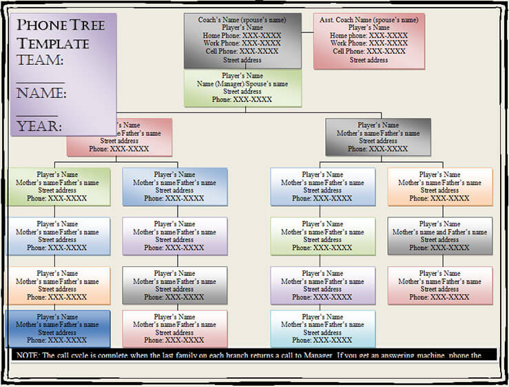 15+ Phone Tree Template Free Word, PDF, Excel Documents - name address phone number template