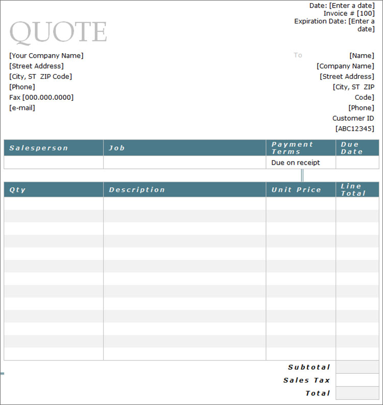 10+ Sample Estimate Templates Free Word, PDF, Excel Formats