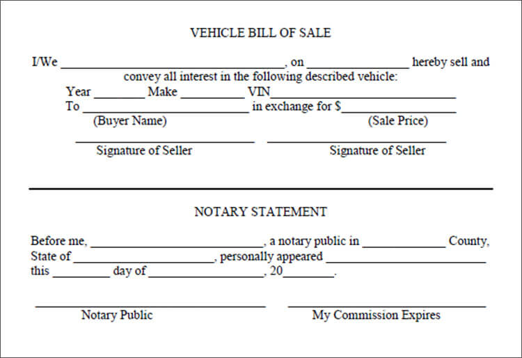 6+ Vehicle Bill Of Sale Templates Free PDF, Word Formats - bill of sale for car