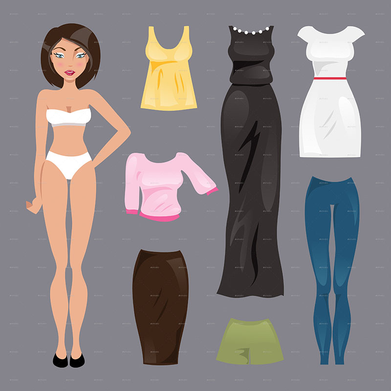 15+ Paper Doll Templates Free PDF Design Ideas Creative Template