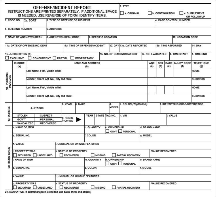 24+ Printable Police Report Templates Free PDF, Word Formats - crime report template