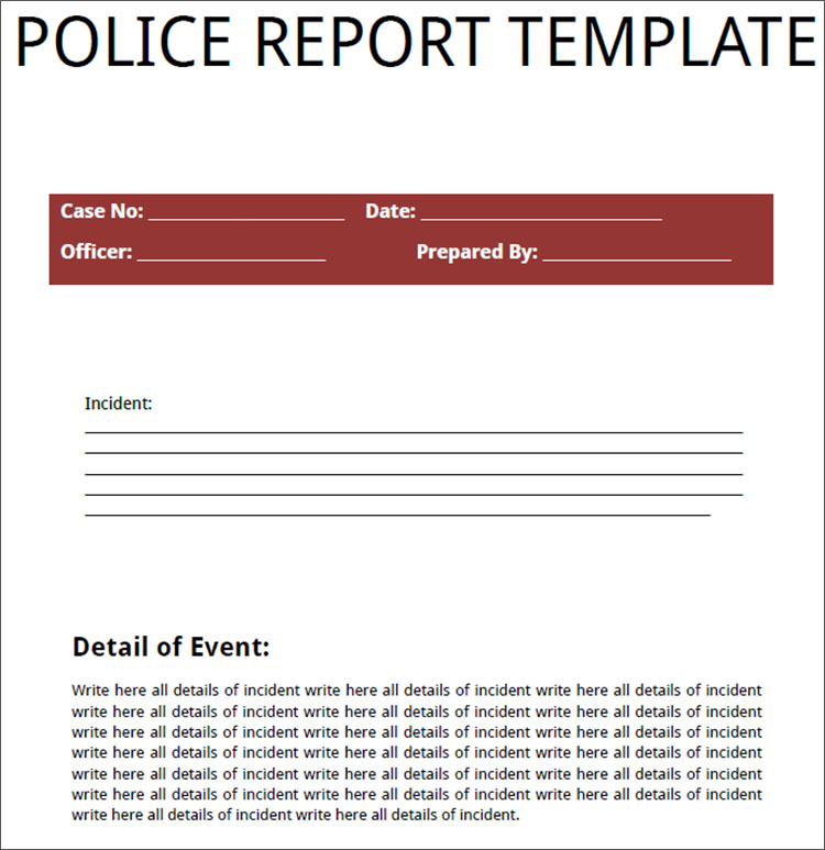 24+ Printable Police Report Templates Free PDF, Word Formats - free printable incident reports